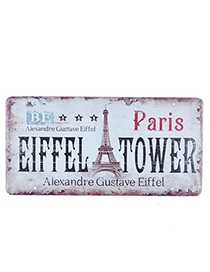 22K White Eiffel Tower Pattern Simple Design Iron Household goods