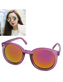 Affinity Transparent Purple Round Frame Simple Design