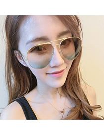Streamline Multicolor Thin Frame & Legs Simple Design Resin Women Sunglasses