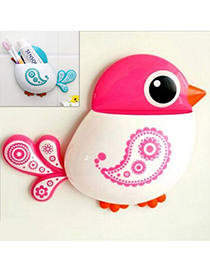Minted Pink Bird Shape Simple Design Plastic Household goods