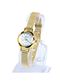 Sequined Gold Color Thin Strap Simple Design