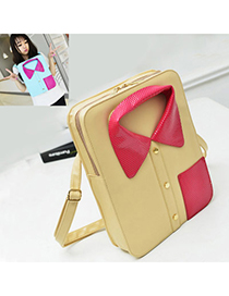 Personalized Khaki Suit Shape Simple Design Pu Backpack