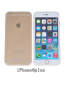 casual Transparent White Pure Color Simple Design Silicone Iphone 6 Plus
