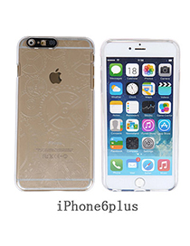 contracted Transparent White Gearwheel Pattern Simple Design Pc Iphone 6 Plus