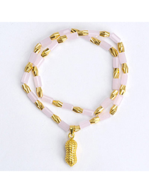 temperament Pink Peanut Shape Decorated Doulbe Layer Design