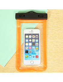 transparent Orange Rectangle Shape Waterproof Case Design