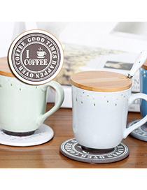 Wholesale Light Coffee Coffee Pattern Decorated Rround Shape Design Wood Household Goods