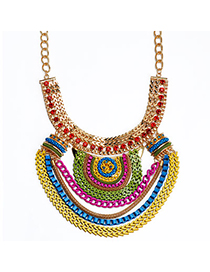 Pretty Multicolor Diamond Decorated Multilayer Design