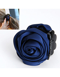 Elegant Navy Blue Rose Shape Decorated Simple Design