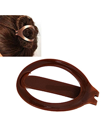Pliable Brown Hairdisk Shape Simple Design