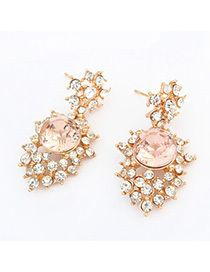 Etcetera light pink CZ diamond decorated simple design