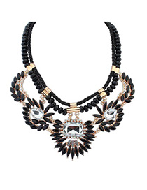 Casual Bronze Key Decorated Multilayer Design Alloy Bib Necklaces