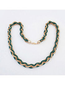 Christenin Green hollow out weave simple design Alloy Chains