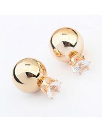 Lace Gold Color Diamond Decorated Round Shape Design