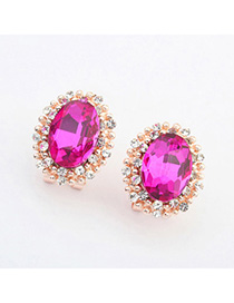 Fashion Gold Color Pearl Decorated Simple Design Alloy Stud Earrings
