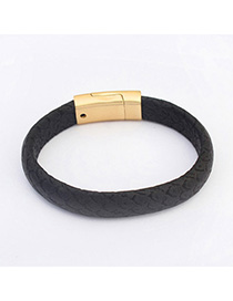 Pendant Black Pure Color Simple Design Alloy Korean Fashion Bracelet