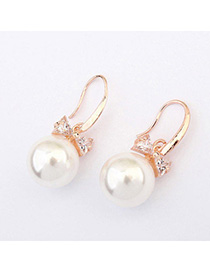 Sweet White Pearl Decorated Bowknot Shape Design