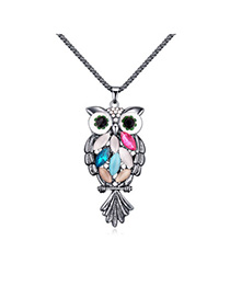 Sweet Multicolor Owl Shape Decorated Simple Design Alloy Chains
