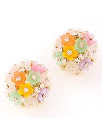 Lovely Multicolor Diamond Decorated Flower Design
