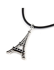Personalized Silver Color Eiffel Tower Shape Pendant Decorated Simple Design