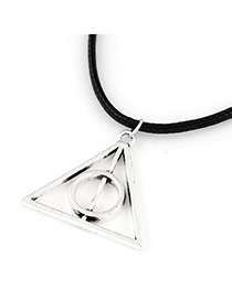 Personalized Silver Color Triangle Shape Pendant Decorated Simple Design