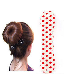 Preferential White Dot Pattern Hairdisk Design  Fabric Beauty tools