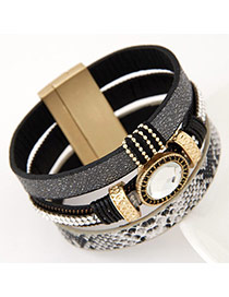High-quality Black Oval Shape Decorated Multilayer Design