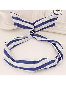 Sweet Blue Stripe Pattern Simple Design