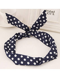Sweet Navy Blue Dots Pattern Simple Design