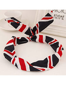 Sweet Black&red&white Stripe Pattern Simple Design