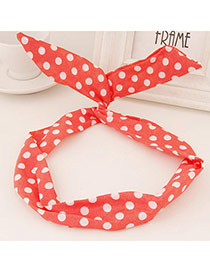 Sweet Red Dots Pattern Simple Design  Fabric Hair band hair hoop