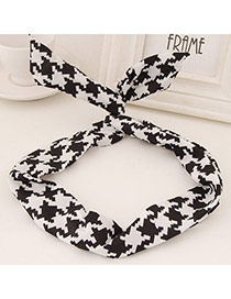 Sweet Black&white Geometry Pattern Simple Design  Fabric Hair band hair hoop