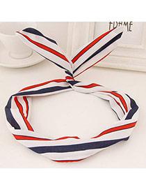 Sweet Blue&red&white Stripe Pattern Simple Design