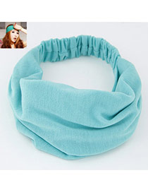 Casual Green Pure Color Wide Simple Design  Fabric Hair band hair hoop
