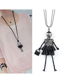 Fashion Black Girl Shape Pendant Decorated Simple Design
