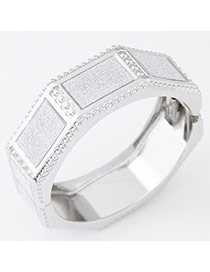 Exaggerated Silver Color Geometrical Shape Simple Design  Alloy Fashion Bangles