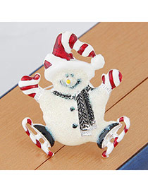 Sweet Red Snowman Shape Simple Design Alloy Korean Brooches