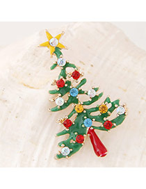 Sweet Green Diamond Decorated Tree Shape Design