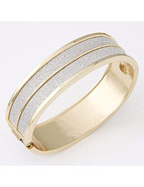 Personality Gold Color Round Shape Simple Design  Alloy Fashion Bangles