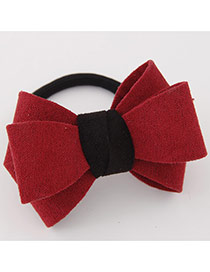 Sweet Red Big Bowknot Decorated Simple Design Rubber Hair band hair hoop