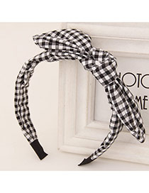 Sweet Black+white Bowknot Decorated Simple Design  Fabric Hair band hair hoop