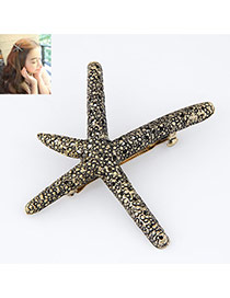 Elegant Gold Color Starfish Decorated Simple Design