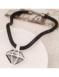 Fashion Silver Clor Hollow Out Triangle Pendant Decorated Simple Design