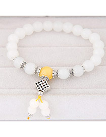 Sweet White Beads Decorated Simple Design  Rosin Korean Fashion Bracelet