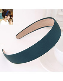 Fashion Green Pure Color Simple Design  Fabric Hair band hair hoop