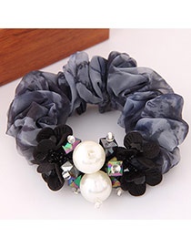 Fashion Gray Flower&pearl Decorated Simple Design  Lace Hair band hair hoop