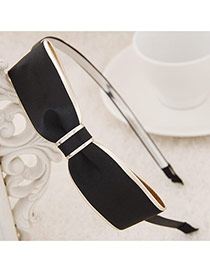 Exquisite Black Big Bowknot Decorated Simple Design  Alloy Hair band hair hoop