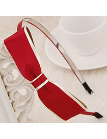 Exquisite Red Big Bowknot Decorated Simple Design  Alloy Hair band hair hoop