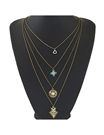 Bohemia Bronze Multielement Pendant Decorated Multilayer Design