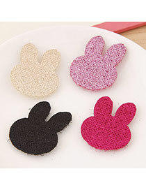 Sweet Random Color Pure Color Rabbit Shape Design(4pcs)
